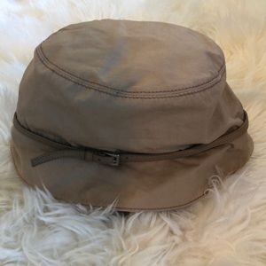 NWOT PRADA Hat With Leather Buckle Detail Sz M